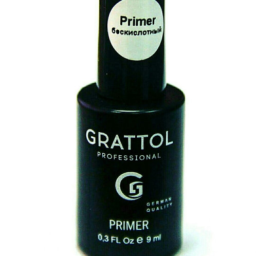 Grattol Primer acid-free Strong Праймер Безкислотный усиленная формула 9 мл