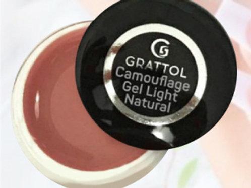 Grattol Camouflage Gel Light Natural -гель камуфлирующий 15 мл