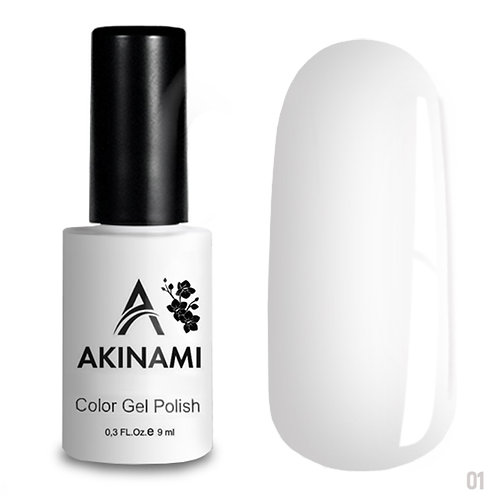 Akinami Color Gel Polish White 001