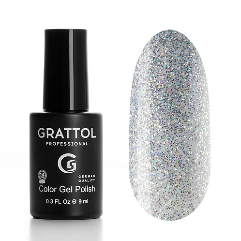Гель лак GRATTOL OS Оpal silver, 9мл
