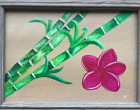 Framed Bamboo Zen  - Felicia Nattress