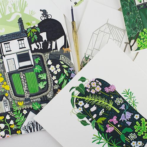 Wild Flower Giclee Print - Sarah Watkins