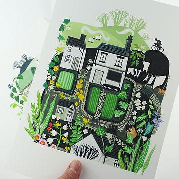 Little Yorkshire Houses Giclee Print.jpg