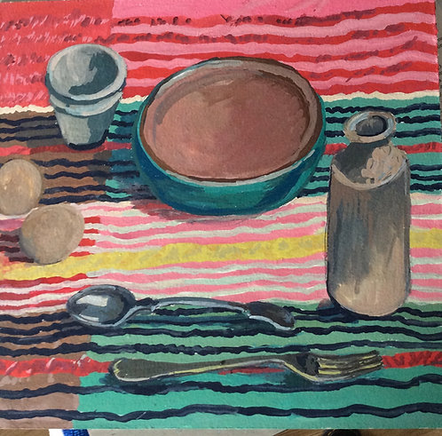 Seersucker Tablecloth- Jackie Waring