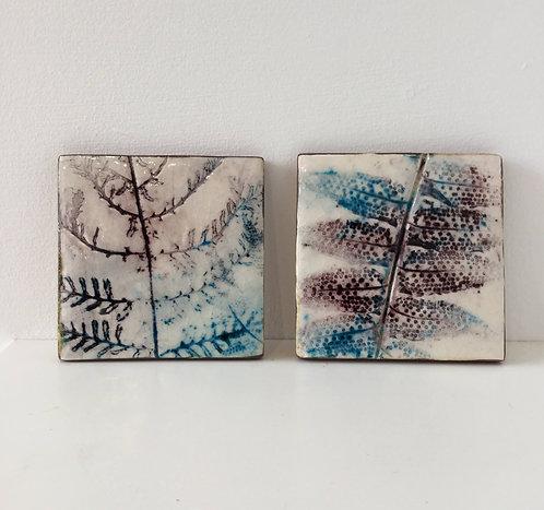 Two Fern Tiles - Caroline Hudson