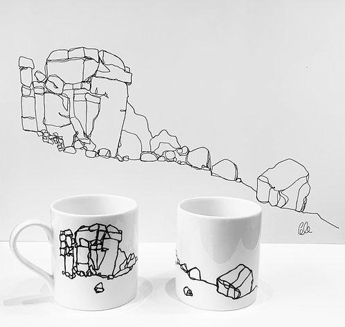 Cow and Calf mugs - Gillian Gilroy