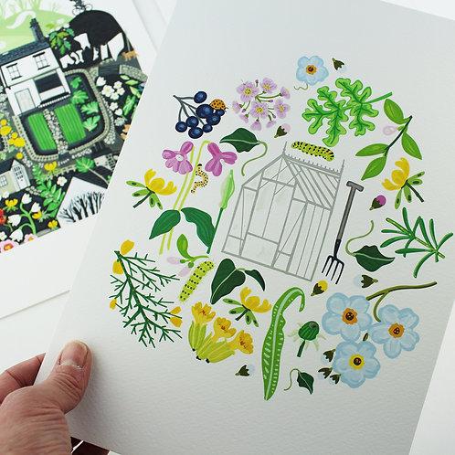 Yorkshire Greenhouse Giclee Print - Sarah Watkins