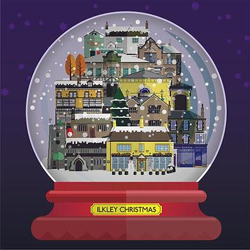 Ilkley Snow Globe Card - Richard Locket