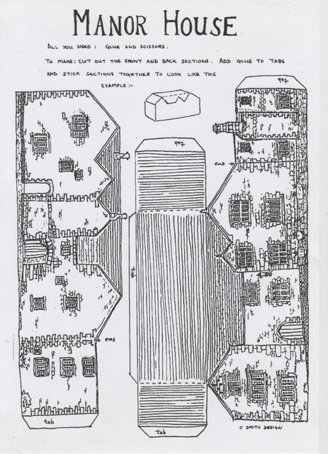 Paper Models of the Manor House & White Wells