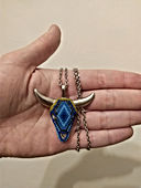 bull necklace reviewer photo