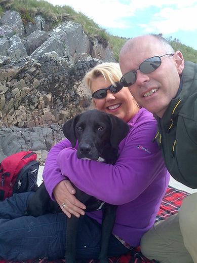 Julia & Steve Happy Hounds Matfield on holiday