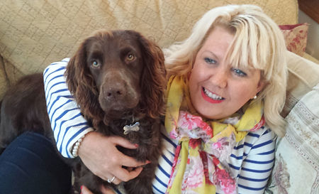 Julia Smith from Happy Hounds Matfield relaxing at home