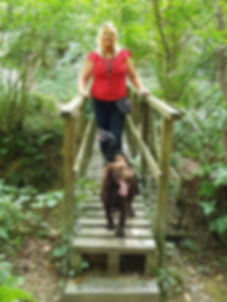 Julia Smith from Happy Hounds Matfield on Dog Walk in Brenchley Woods
