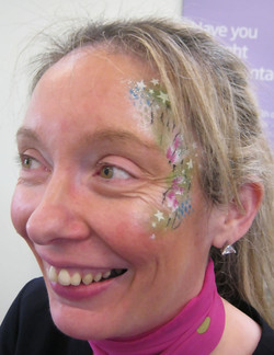 Specsavers_opening_facepainted_facepainting._Bellshill_March_2018
