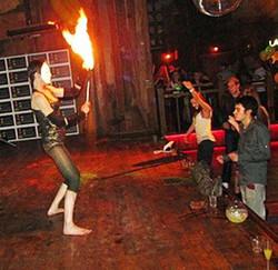 Lana Fire dance