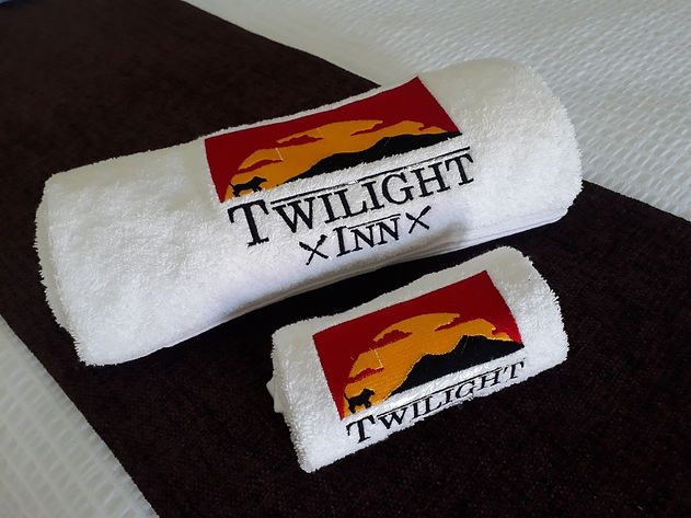 Towls fold with logo on show