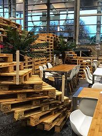 Salon Heavent espace restauration by Triple D et Rue de la Lune