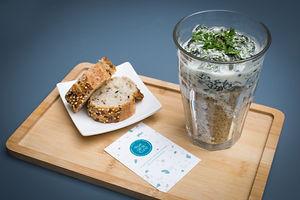 Pause déjeuner (velouté aux épinards) au Corner café du Maif Social Club  by Rue de la Lune
