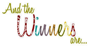 Congratulations to our August Giveaway Winners......Rebecca, Rebeckah, Carrie & Amber!