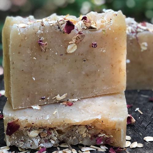Lemongrass Geranium Natural Oat Soap