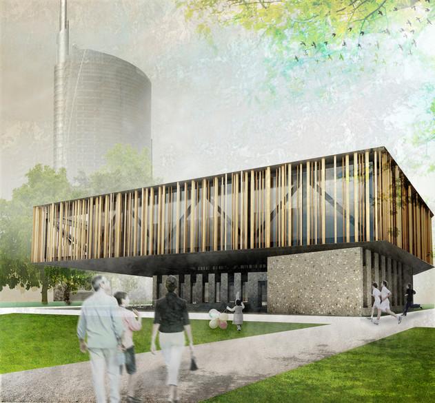 why associati architettura design landscape, centro civico
