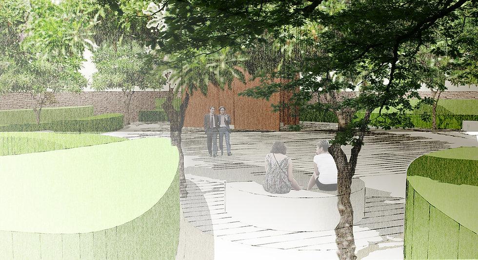 why associati architettura design landscape, Bordiga spazi esterni vista