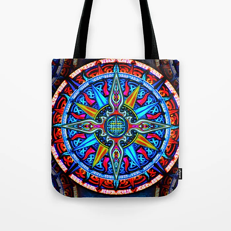 Celtic Compass #4 Tote Bag