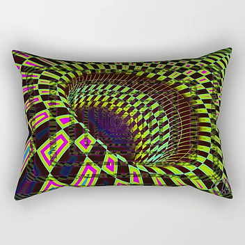Tumbler #26 Optical Illusion Psychedelic Trippy Vibrant Design Rectangular Pillow