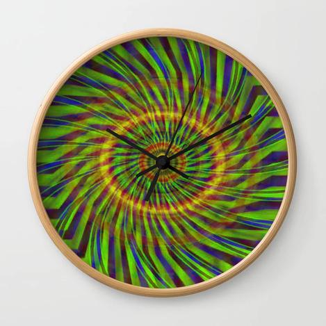 Warp Wider #1 Wall Clock