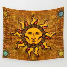 Sublime Sun #2 Icon Wall Tapestry