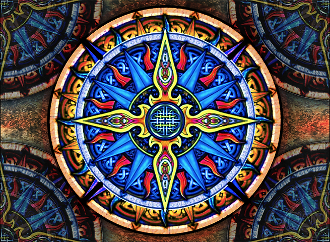 Celtic Compass #3 Tapestry
