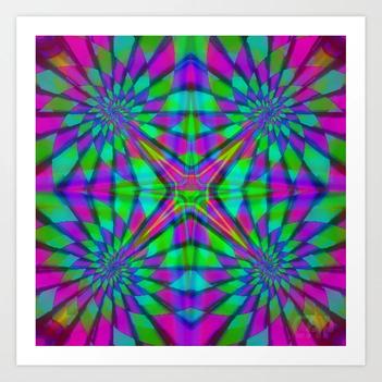 Quadro #5 Vibrant Psychedelic Optical Illusion Art Print