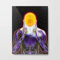 MIND #2 Psychedelic Meditation Vibrant Ethereal Design Metal Print