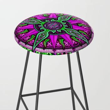 Celtic Compass #1 Bar Stool