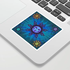 Sublime Moon Tapestry #2 Sticker