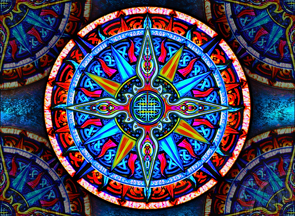 Celtic Compass #4 Tapestry