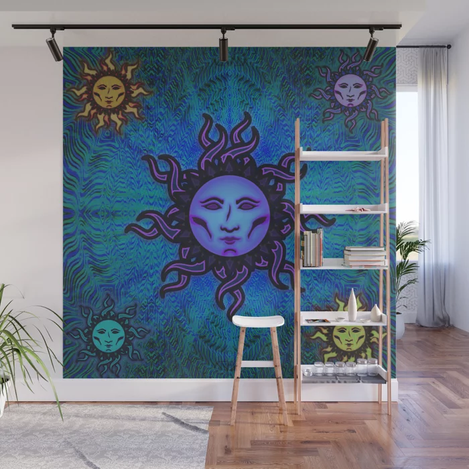 Sublime Moon Tapestry #2 Wall Mural