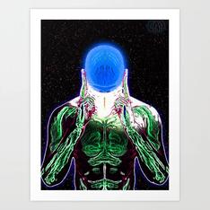 MIND #1 Psychedelic Meditation Vibrant Ethereal Design Art Print