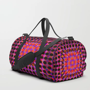 Warp Flow #1 Psychedelic Optical Illusion Trippy Moving Zooming Design Duffle Bag