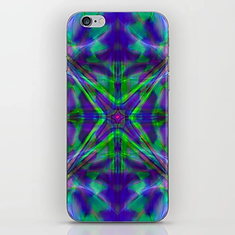 Quadro #4 Vibrant Psychedelic Optical Illusion iPhone Skin
