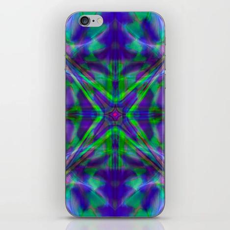 Quadro #4 Vibrant Psychedelic Optical Illusion iPhone Skin