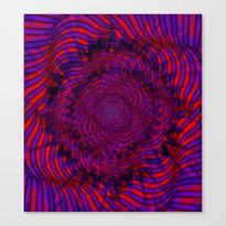 Hypnotica #1 Vibrant Psychedelic Illusion Canvas Print