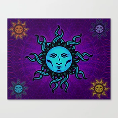 Sublime Moon Tapestry #1 Canvas Print