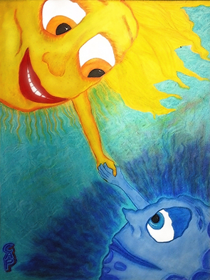Sun & Moon Holding Hands