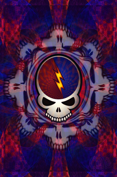 Steal Your Face Fractal Skulls