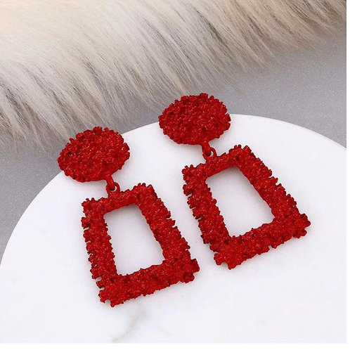 Remy Ma Red Earrings