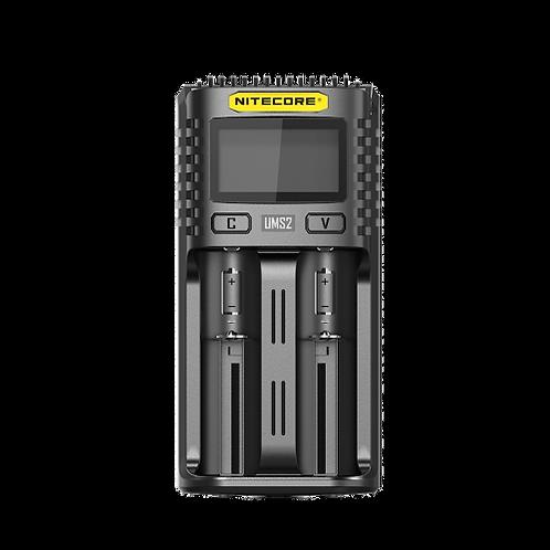 CARGADOR BATERIAS NITECORE UMS2 INTELLIGENT USB DUAL-SLOT