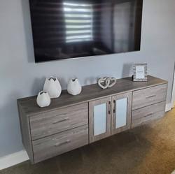 Acrylic custom made wall unit