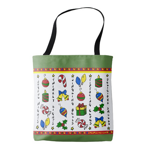 Holiday Striped Tote