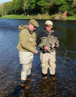 Fly Fishing Casting Tuition on River